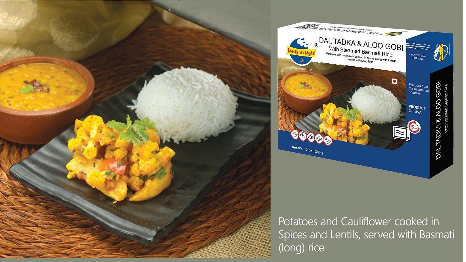 Basmati Rice - Dal Tadka - Aloo Gobi